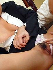 Japanese playing with cum
