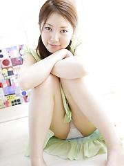Nice asian slut Yua Hagiwara demonstrates her young wet pussy