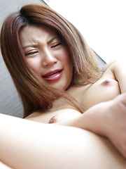 As Akane moved her pink friend from her perky tits to her pink lips, it slid around like tennis shoes on ice. Slippery, wetty, naughty Japanese girl!