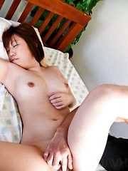 Ai Ootomo Asian gets dildo in asshole and clitoris rubbed at once
